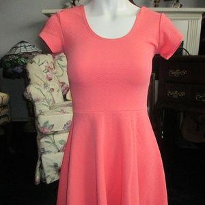 Planet Gold - Peach Skater Dress Size S